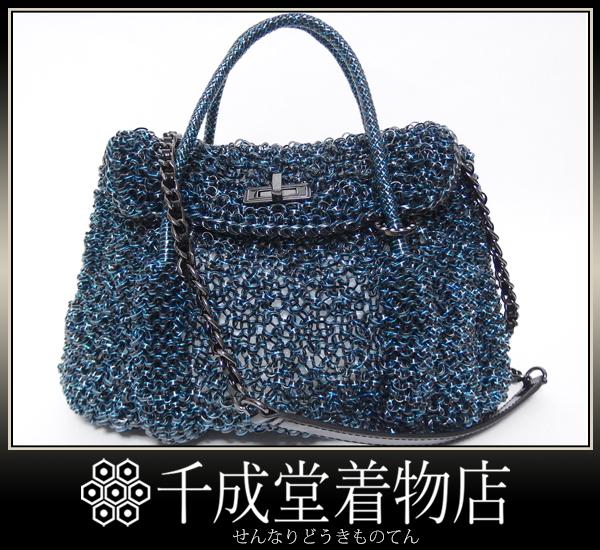 千成★美品 アンテプリマ ワイヤーバッグ ルッケット チェーン