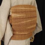 原始布、科布(しなふ)の帯を都会的にコーディネートする
