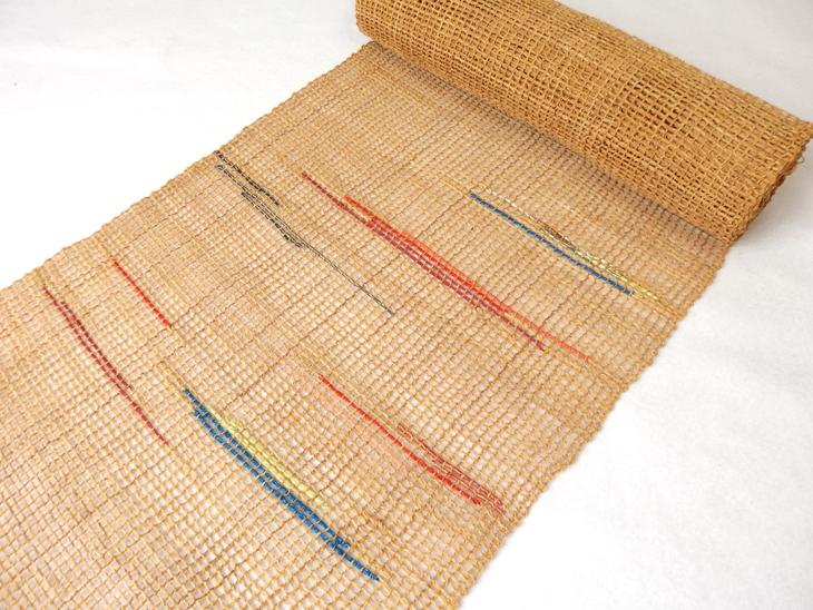 出羽の織座® しな布帯 網織×柄入り(多色)