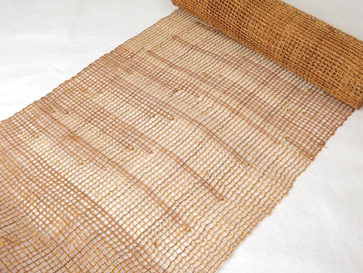 出羽の織座® しな布帯 網織×柄入り(単色)