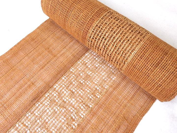 出羽の織座® しな布帯蕁麻×捩り織り