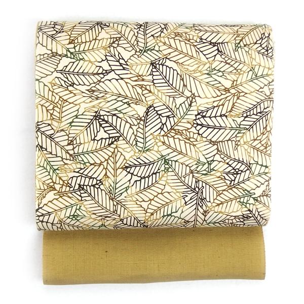 武村小平さんの型染め帯、久米島紬に合わせて