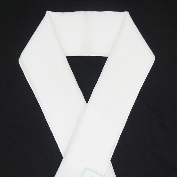 紐の渡敬 本麻の半衿 白 全体