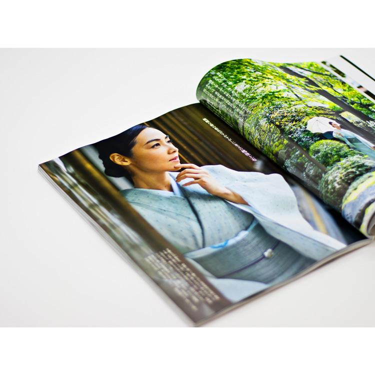 美しいキモノ2020夏号掲載 霧島れいかさん着用 越後上布と葛布のコーディネート写真