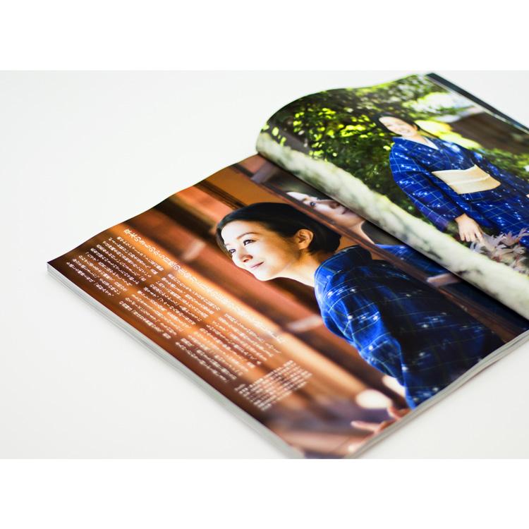 美しいキモノ2020夏号掲載 鈴木京香さん着用 八重山上布と喜如嘉の芭蕉布のコーディネート写真