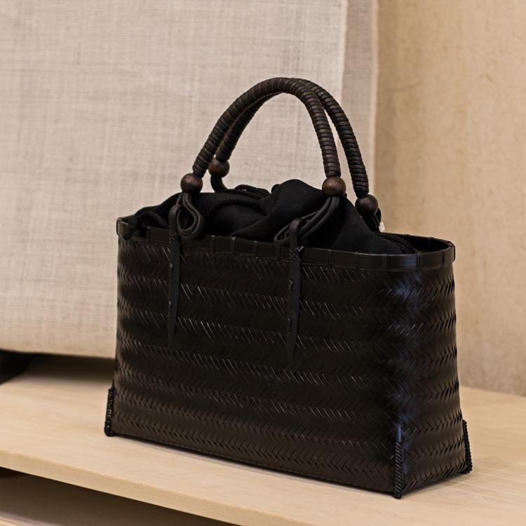 高江雅人(竹工房オンセ)夏着物に合う竹細工バッグ