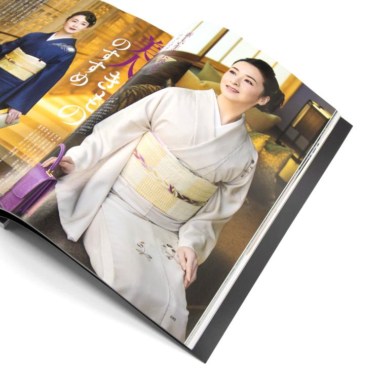 雑誌きものSalon2020秋冬号 檀れいさん着用の着物と帯を提供しました