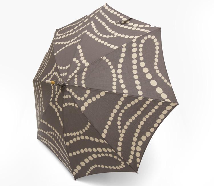 内藤早苗 注染の日傘 真珠の首飾り 広げたとき