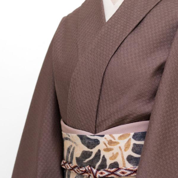 久米島紬 組織織の着尺のコーディネート