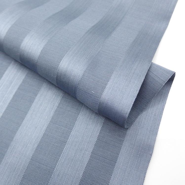 菊池洋守の八丈織 着尺 椎染め・綾織りの縞