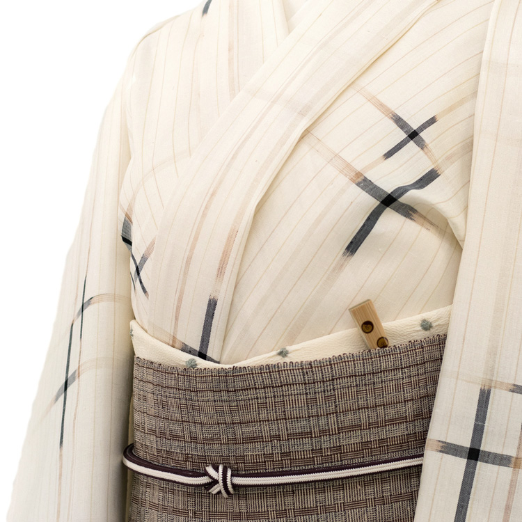 日本工芸会正会員 大城一夫さんの本場琉球絣と喜如嘉の芭蕉布のコーディネート