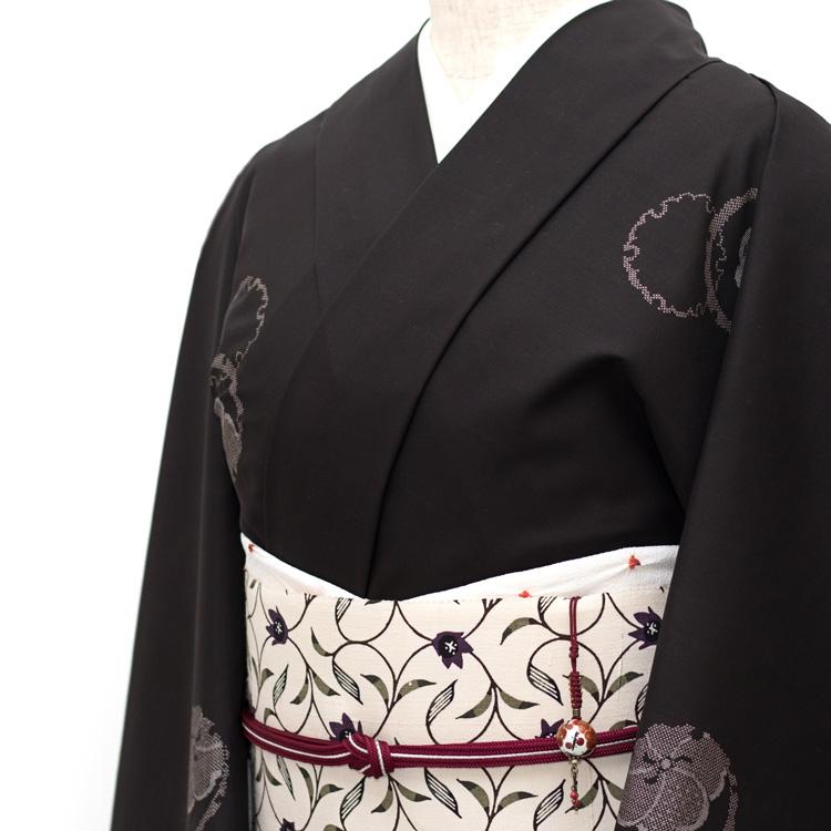 本場大島紬と武村小平の型染の帯とのコーディネート