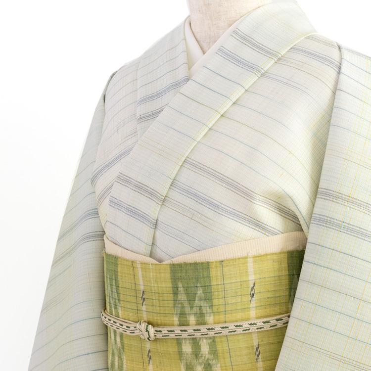 新里玲子 宮古上布の帯のコーディネート