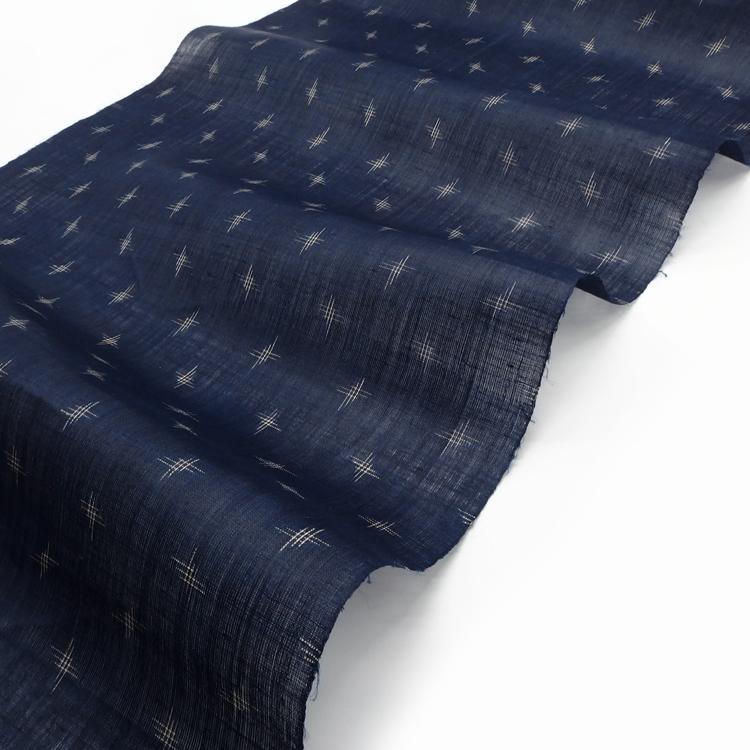 新里玲子 宮古上布 着尺「藍染 バンジョー」の光沢感