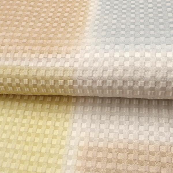 セレクト 帯揚げ ふくれ織 淡黄と白茶と薄雲鼠ぼかし