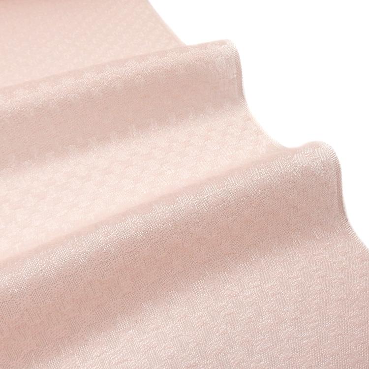 勝山さと子 「おぼろ市松」羽尺 千成堂着物店 別注 モーブピンクの透け感