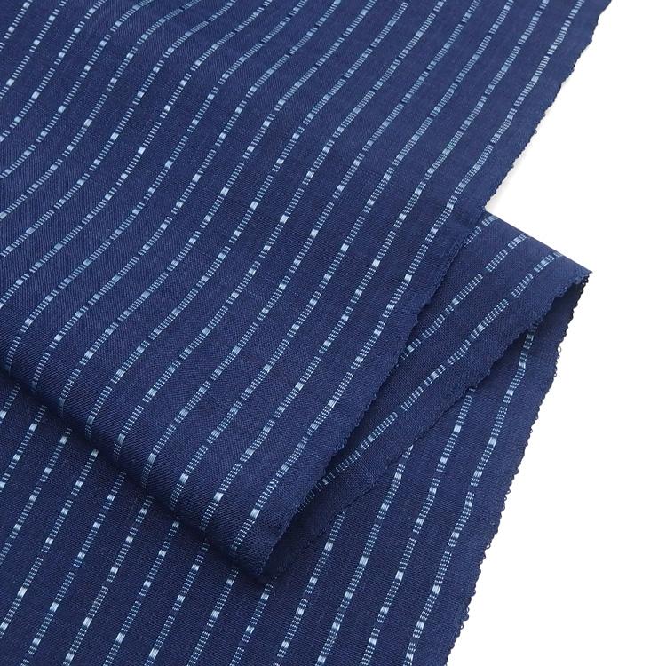 山口良子 首里道屯織(首里織・花織)着尺 琉球藍
