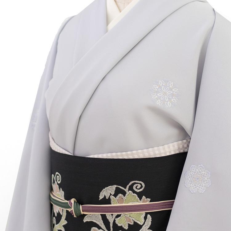 千成堂オリジナル刺繍の小紋と洛風林「ボハラ刺繍」名古屋帯のコーディネート