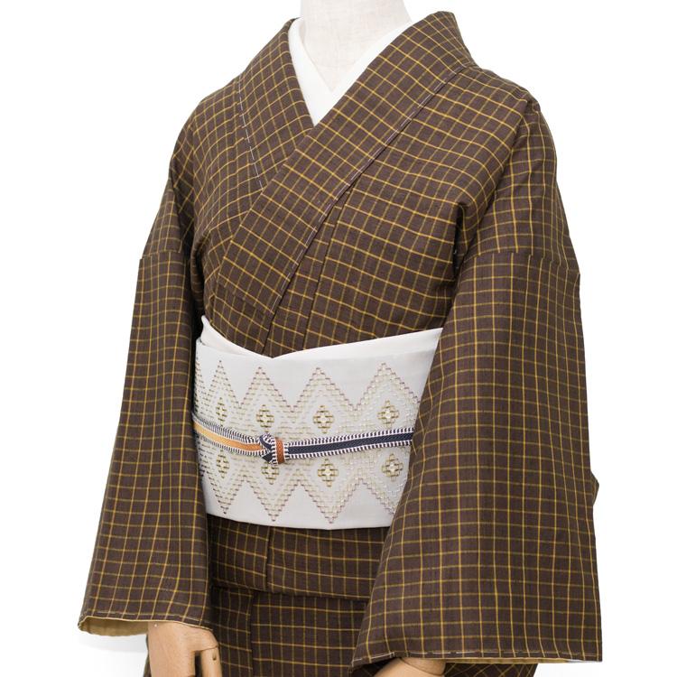 リユース安田英子さんの本場久米島紬にルバース吟子さんの帯をコーディネート